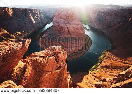 Arizona Horseshoe Bend Of Colorado River In Grand Canyon. Grand Canyon, Glen Canyon, Arizona