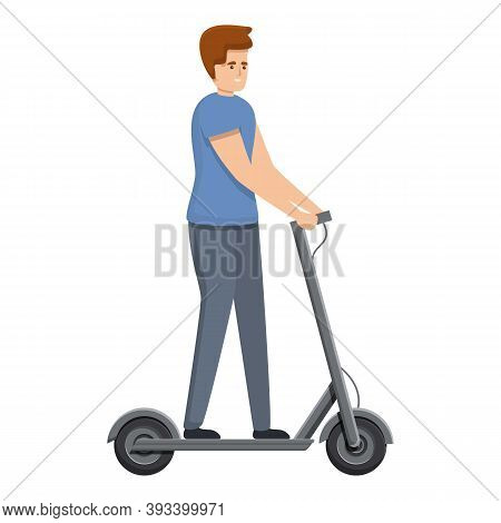 Modern Electric Scooter Icon. Cartoon Of Modern Electric Scooter Vector Icon For Web Design Isolated
