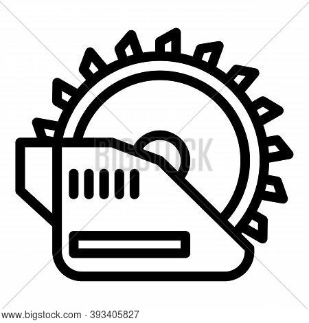 Electric Circular Saw Icon. Outline Electric Circular Saw Vector Icon For Web Design Isolated On Whi