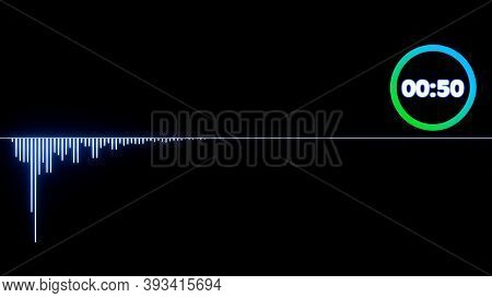 Audio Spectrum Frequency Waveform , Abstract 3d Sound Waves With Colorful Loading Infographic Countd