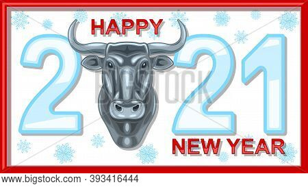 Metal Heads Of A Bull, Chinese New Year According To The Eastern Calendar