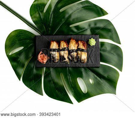 Eel Sushi Food, Unagi Nigiri With Smoked Eel