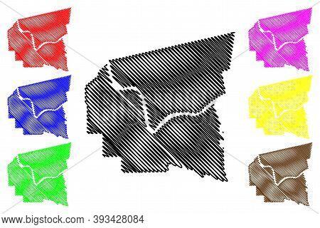 St. James County, Louisiana (u.s. County, United States Of America, Usa, U.s., Us) Map Vector Illust