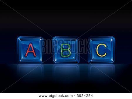 Hi-Tech Plastic Alphabet Blocks