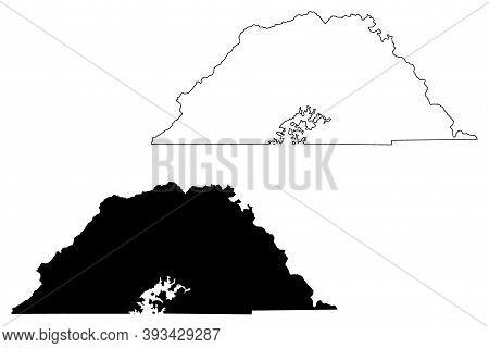Clay County, North Carolina State (u.s. County, United States Of America, Usa, U.s., Us) Map Vector