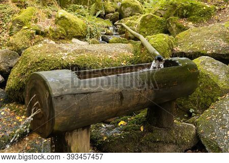 Wooden water tank in the black forest. Germany
