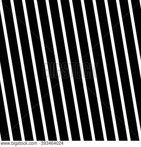 Diagonal Lines Seamless Pattern. Linear Motif. Angled Stripes Ornament. Pinstripes Print. Striped Ba