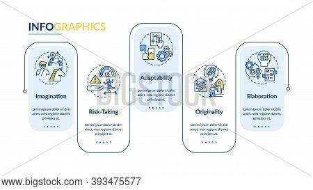 Creative Thinking Skills Vector Infographic Template. Adaptability Presentation Design Elements. Dat
