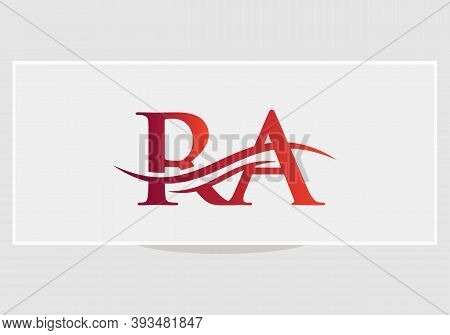 Ra Logo Design. Ra Modern Creative Unique Elegant Minimal. Ra Initial Based Letter Icon Logo.