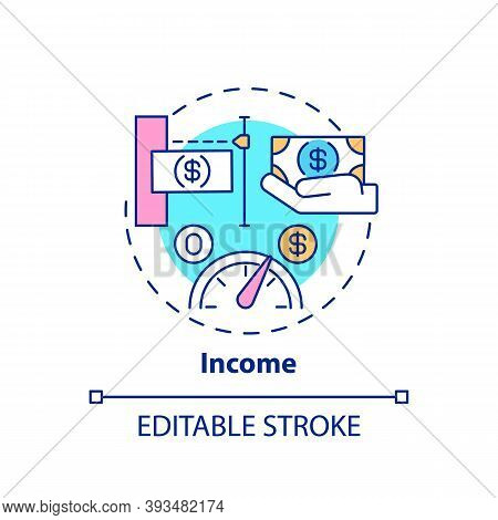 Income Concept Icon. Insurance Cost Factors. Better Working Service. Getting Medical And Finance Hel