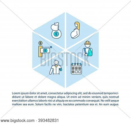Disability Insurance Concept Icon With Text. Medical Reasons. Financial Need. Income Protection. Ppt