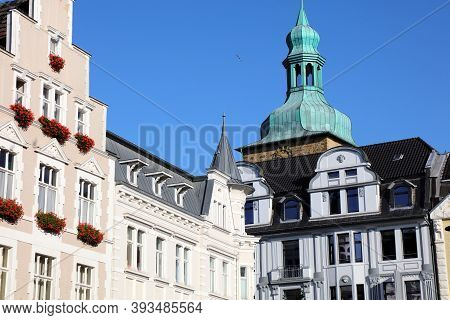 Recklinghausen City, Germany. Cityscape Of Main Square (markt).