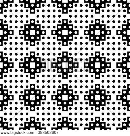Seamless Pattern. Ethnical Folk Image. Ancient Mosaic. Tribe Motif. Digital Paper For Web Design, Te