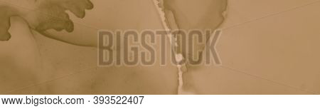 Abstract Coffee Splash. Retro Brown Banner. Antique Old Parchment. Watercolour Chocolate Template. B