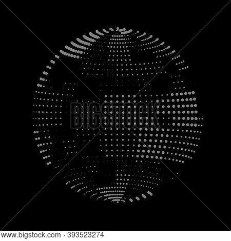 Soap Bubble Made From Glowing Panels. Checkerboard Checkered Irregular Palette. Vector Texture Of Ti
