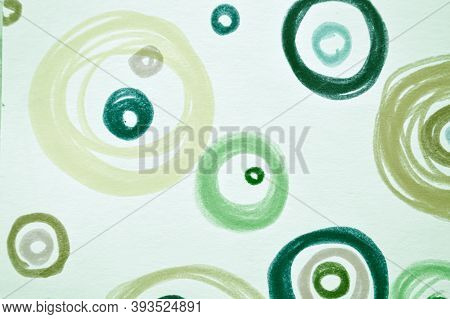 Green Scribble Background. Watercolour Radial Surface. Cool Fashion Confetti. Abstract Carpet Print.