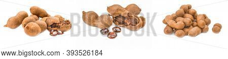 Group Of Tamarind Isolated On A White Cutout