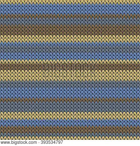 Woven Horizontal Stripes Knit Texture Geometric Vector Seamless. Carpet Hosiery Textile Print. Nordi