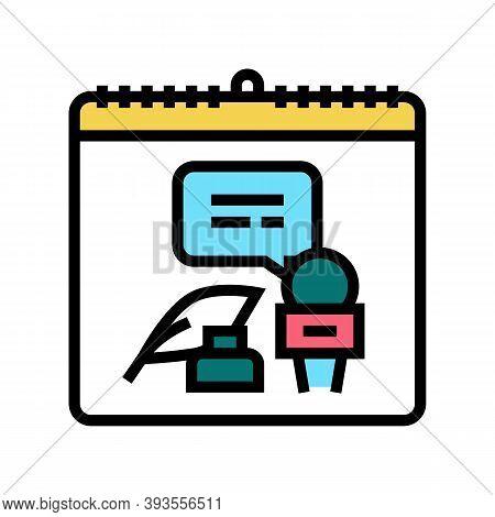 World Press Freedom Day Color Icon Vector. World Press Freedom Day Sign. Isolated Symbol Illustratio