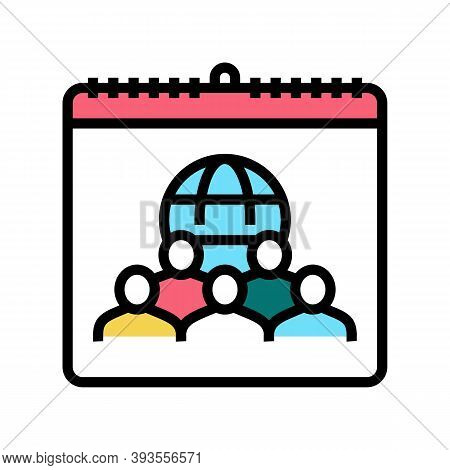 International Day For Tolerance Color Icon Vector. International Day For Tolerance Sign. Isolated Sy