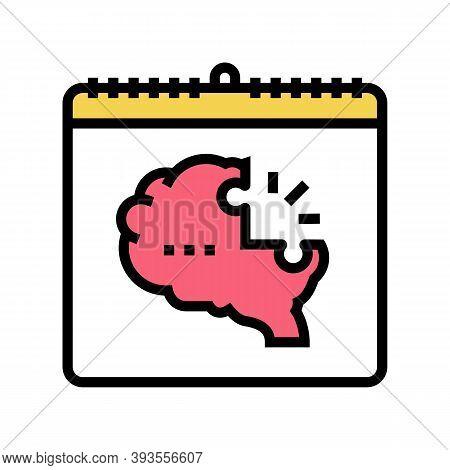 World Schizophrenia Day Color Icon Vector. World Schizophrenia Day Sign. Isolated Symbol Illustratio