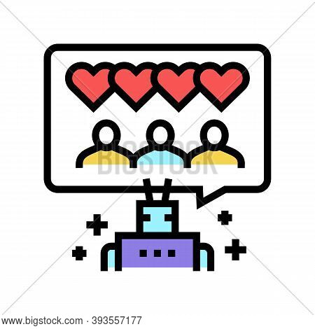Robotic Winding Up Likes Color Icon Vector. Robotic Winding Up Likes Sign. Isolated Symbol Illustrat
