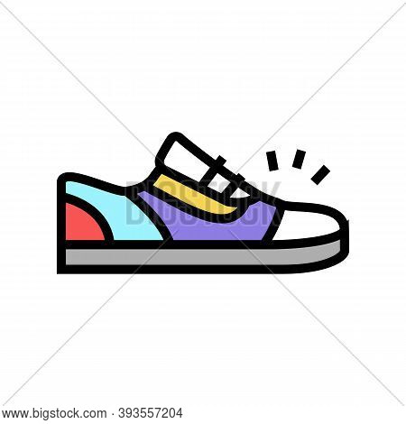 Sneaker Shoes Color Icon Vector. Sneaker Shoes Sign. Isolated Symbol Illustration