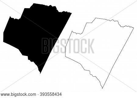 Franklin County, North Carolina State (u.s. County, United States Of America, Usa, U.s., Us) Map Vec