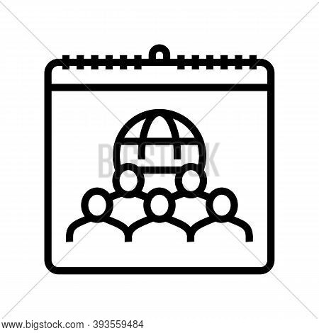 International Day For Tolerance Line Icon Vector. International Day For Tolerance Sign. Isolated Con