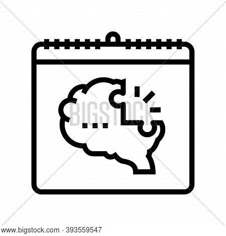 World Schizophrenia Day Line Icon Vector. World Schizophrenia Day Sign. Isolated Contour Symbol Blac