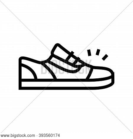 Sneaker Shoes Line Icon Vector. Sneaker Shoes Sign. Isolated Contour Symbol Black Illustration