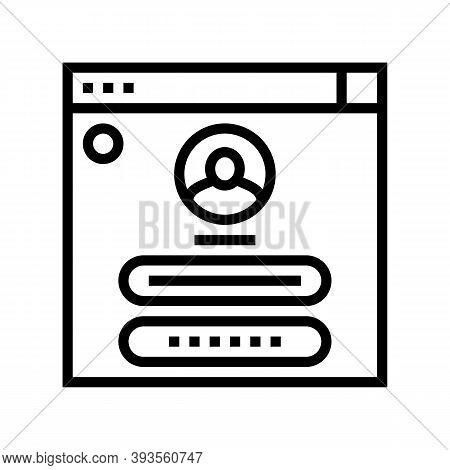 User Identification Line Icon Vector. User Identification Sign. Isolated Contour Symbol Black Illust