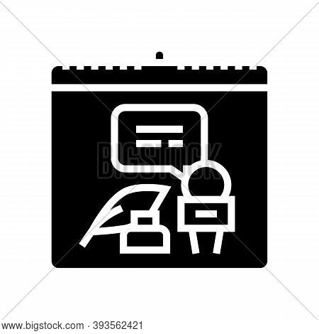 World Press Freedom Day Glyph Icon Vector. World Press Freedom Day Sign. Isolated Contour Symbol Bla