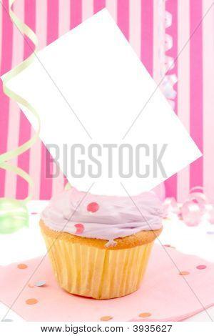 Blank Card Cupcake