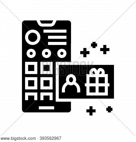 Draw Among Subscribers Glyph Icon Vector. Draw Among Subscribers Sign. Isolated Contour Symbol Black