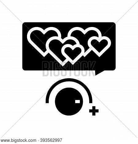 Winding Up Likes Glyph Icon Vector. Winding Up Likes Sign. Isolated Contour Symbol Black Illustratio