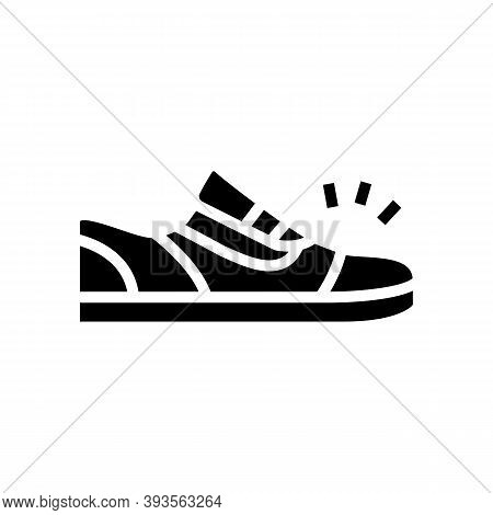 Sneaker Shoes Glyph Icon Vector. Sneaker Shoes Sign. Isolated Contour Symbol Black Illustration