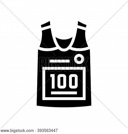 Runner T-shirt Glyph Icon Vector. Runner T-shirt Sign. Isolated Contour Symbol Black Illustration