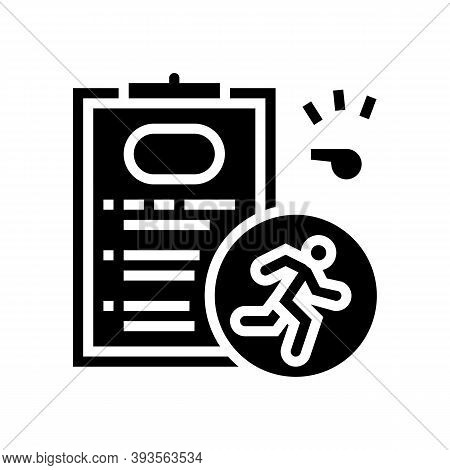 Runner Sportsman Card Glyph Icon Vector. Runner Sportsman Card Sign. Isolated Contour Symbol Black I