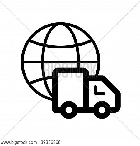 World Wide Shopping Icon Isolated On White Background From Ecommerce Shopping Collection. Simple And