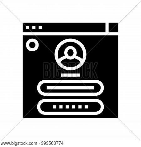 User Identification Glyph Icon Vector. User Identification Sign. Isolated Contour Symbol Black Illus