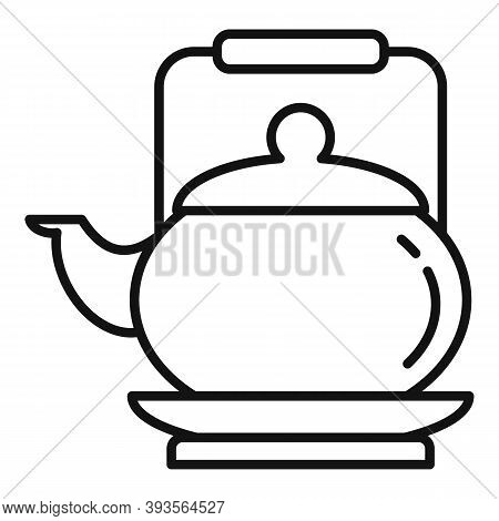 Tea Ceremony Teapot Icon. Outline Tea Ceremony Teapot Vector Icon For Web Design Isolated On White B