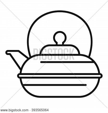 Aromatic Tea Pot Icon. Outline Aromatic Tea Pot Vector Icon For Web Design Isolated On White Backgro