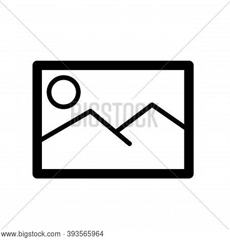 Picture Icon Isolated On White Background From Communication And Media Collection. Trendy And Modern