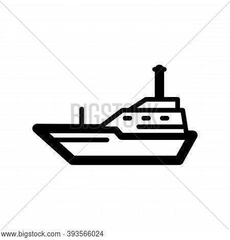 Yacht Icon Isolated On White Background From Vehicles Collection. Trendy And Modern Yacht Symbol For