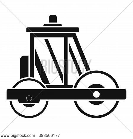 Builder Road Roller Icon. Simple Illustration Of Builder Road Roller Vector Icon For Web Design Isol