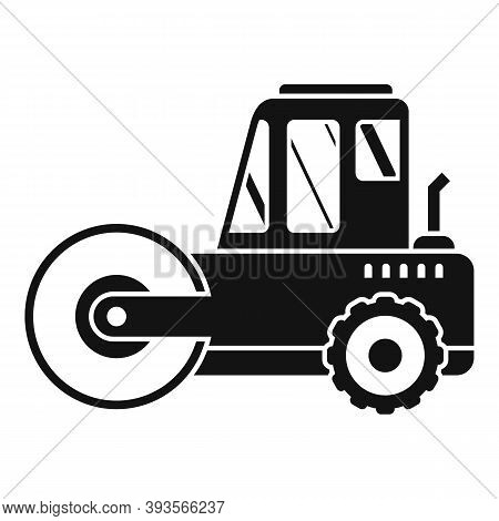 Heavy Road Roller Icon. Simple Illustration Of Heavy Road Roller Vector Icon For Web Design Isolated
