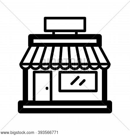 Shop Icon Isolated On White Background From Shipping Logistics Collection. Shop Icon Trendy And Mode