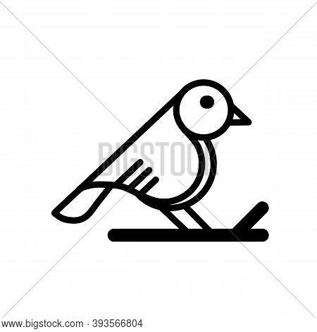 Bird Logo. Line Art Bird Logo Icon. Modern Bird Logo Design Concept . Nature Bird Logo Illustration.