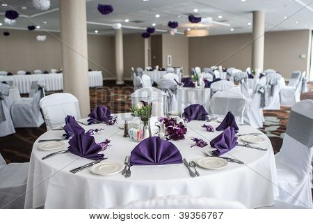 Wedding Reception Tables and room
